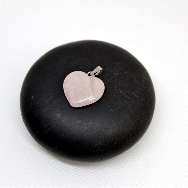 cuarzo rosa colgante